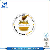 Étiquette de papier adhésive lustrée durable de collant de bouteille de miel