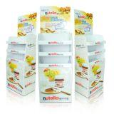 Visualizzazione piegante del cartone di Costomized che si leva in piedi con 3 cassetti per alimento/spuntini