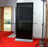 Soporte del suelo OS androide LCD de 32~84 pulgadas que hace publicidad del jugador del anuncio de visualización