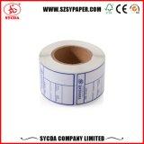 Top blanco de papel térmico de etiqueta auto adhesiva con alta Geade materiales