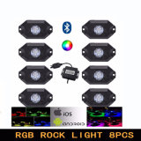 La luz de Rock de LED RGB Bluetooth 4PC 8PC para off road Alquiler de Barcos