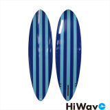 5' 8PU vierge en fibre de verre de mousse de planche de surf Shortboard avec le PCA de nageoires et laisse