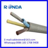 Sqmm elétrico flexível do cabo de fio 4X2.5 de H05VV