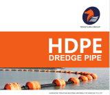Excelente HDPE negro tubo dragar
