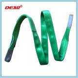 Imbracatura di sollevamento 100% della tessitura della cinghia della doppia piega del poliestere