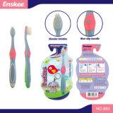 O miúdo/criança/Toothbrush das crianças com as cerdas delgadas & macias, presente incluíram o bloco 883