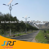 30W 두 배 팔 Hot-DIP 직류 전기를 통한 강철 폴란드 태양 가로등
