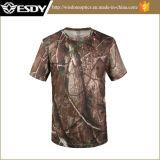Esdy piscina ao ar respirável militar táctico Quick Dry T-shirt de manga curta