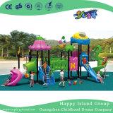 Напольное Vegetable оборудование спортивной площадки скольжения детей крыши (HG-9302)