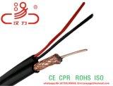 Cavo elettrico coassiale siamese di Rg59 Cable+ 2c per il CCTV/trasporto di energia