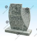 Headstone popolare di coltivazione a frana del granito della Cina Juparana per le tombe