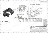 Wijfje 3.5mm Audio Mono StereoHefboom pj-362 van Wnre van de Hefboom