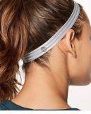 Sete cores esticam os esportes antiderrapantes elásticos Headband, silicone Hairband personalizam o logotipo