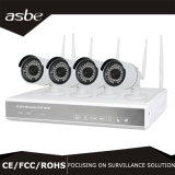4CH câmera do CCTV da segurança do jogo do IP NVR da sincronização 960p WiFi