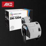 Les étiquettes sèches Dk1209 compatible Dk-1209 de frère d'étiquettes étiquette 80g papier enduit les étiquettes auto-adhésives de collants