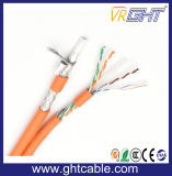 Muti-Media RG6 Koaxialkabel und 4p Cat5e UTP Netz-Kabel