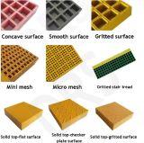 Concave Gevormde Grating van de Glasvezel van de Oppervlakte FRP, Gevormde Grating van de Glasvezel GRP