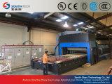 Máquina de cristal de doblez curvada cruz de la producción del endurecimiento de Southtech (HWG)