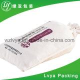 2018 Nouvelle arrivée de la mode écologique tissu de toile de coton tissé de riz Sac avec lacet de serrage/sac de toile de coton de récolte