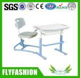 Feito mesa moldada da escola da placa da única com cadeira (SF-02S)