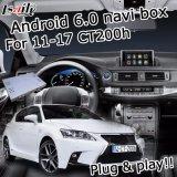 Коробка поверхности стыка навигации Android 6.0 для Lexus CT200h с экраном касания вид сзади