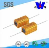 Golden Aluminum Encased Wirewound Resistor