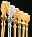 Горячие продажи! Высокое качество Gold микрофон микрофон трофей Crystal