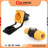 2018 Cnlinko Nuevo Diseño de cable de alimentación eléctrica IP65 Resistente al agua Color Naranja Conector para la pantalla de LED