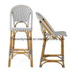 프랑스 대나무 작은 술집 등나무 부엌 하이바는 의자를 용변한다