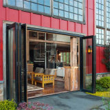 Estándares australianos como2047 Exterior de aluminio Cristal puerta plegable
