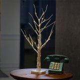 1.5m LEDの暖かいホワイトクリスマスの木ライト木の装飾ライト