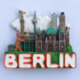 Magneet van de Koelkast van Polyresin van de Gift van de Herinnering van de Vlekken van de Toerist van India 3D