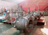 鋳造物のステンレス鋼2PCのトラニオンによって取付けられるフランジの球弁