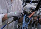 니트릴 코팅을%s 가진 기름 증거 일 장갑이 15 계기에 의하여 뜨개질을 했다