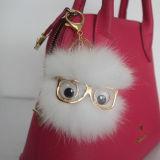 新型の女性のハンドバッグの財布の吊り下げ式の性の女の子のポンポンの突風のキーホルダー