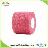 新製品の別の着色された綿の付着力の伸縮性がある凝集の包帯