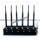 Lojack Jammer para GSM800MHz+GSM900MHz+1900+1800MHz MHz+3G2100MHz+Gpsl1+Lojack, 6 frequências Jammer /Blocker