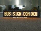 El desplazamiento de Bus de la pantalla de LED programable de Ámbar Mover Texto Iniciar sesión
