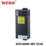 Bloc d'alimentation à sortie unique de C.C de Weho 600W 12.5A 48V