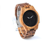 고품질 새로운 형식 나무로 되는 시계, 100% 자연적인 시계 나무, 나무로 되는 손목 시계