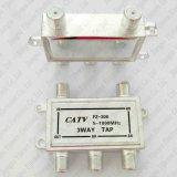 4-manier Haven 1 van de Schakelaar van het Type van Splitser F van het Signaal CATV van de Splitser 5-1000MHz in 4 uit
