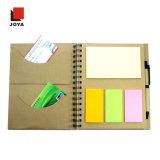 Artigos de papelaria elegantes do escritório que escrevem o caderno espiral feito sob encomenda claramente impresso