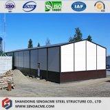 Kleines Stahlgebäude für das Aufbereiten der Werkstatt