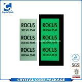 Resplandor fluorescente impermeable del PVC en etiqueta autoadhesiva oscura