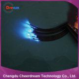 0.75/1.6mm PMMA Enden-Licht-aus optischen Fasernkabel mit schwarzer Umhüllung