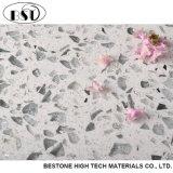 Dessus artificiel de vanité de salle de bains de pierre de quartz de platine blanc