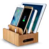 Support de charge de bois de bambou, le titulaire pour iPhone/iPad Mini & tous les Tablet PC