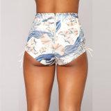 Sides Shorts 높은 쪽으로 열대 Print Lace