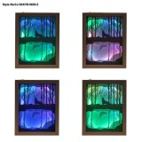 Vidro de Design exclusivo para o quarto da lâmpada de esculpir a luz nocturna