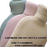 Kaschmir-Rippen-heißer Flaschen-Deckel